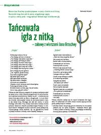 Tańcowała Igła Z Nitką Zabawy Z Wierszami Jana Brzechwy