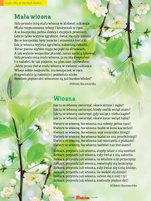 Mała Wiosna Wiosna Wiersze Scenariusze Zajęć I