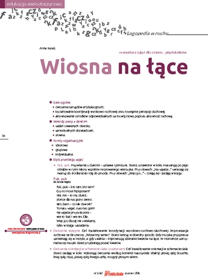 Wiosna Na łące Logopedia W Ruchu Scenariusze Zajęć I