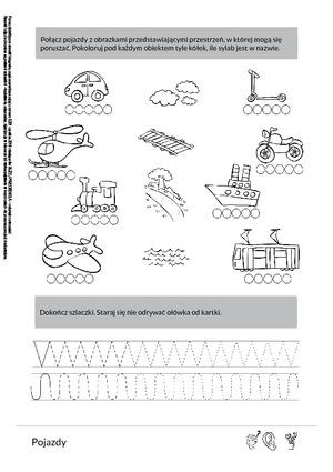 Pojazdy (PD) - Pomoce dydaktyczne - Miesięcznik - BLIŻEJ PRZEDSZKOLA