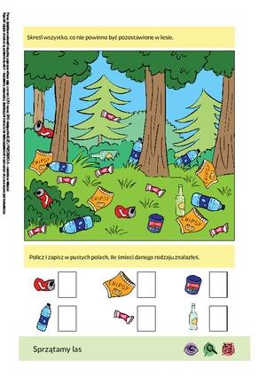 Sprzątamy las (PD) - Pomoce dydaktyczne - Miesięcznik - BLIŻEJ ...