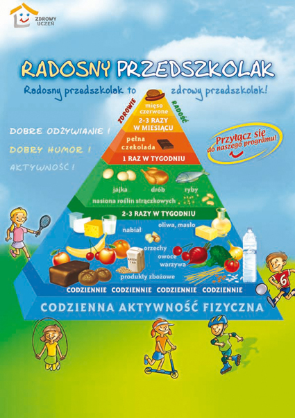 Piramida Zdrowia Dla Dzieci Kolorowanka