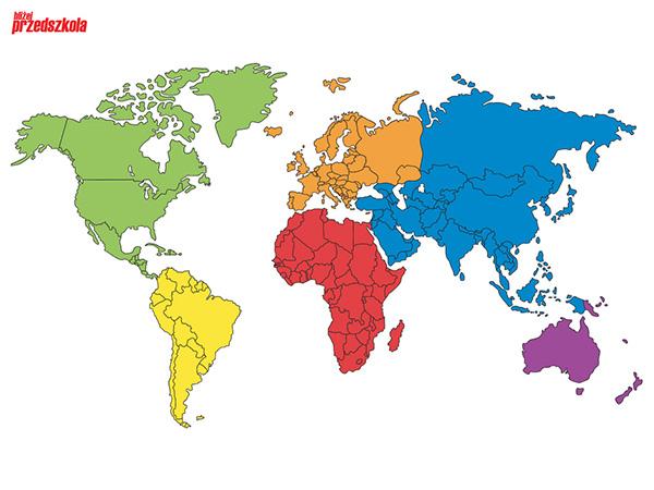 plakat mapa świata scenariusze zaję� i artyku�y