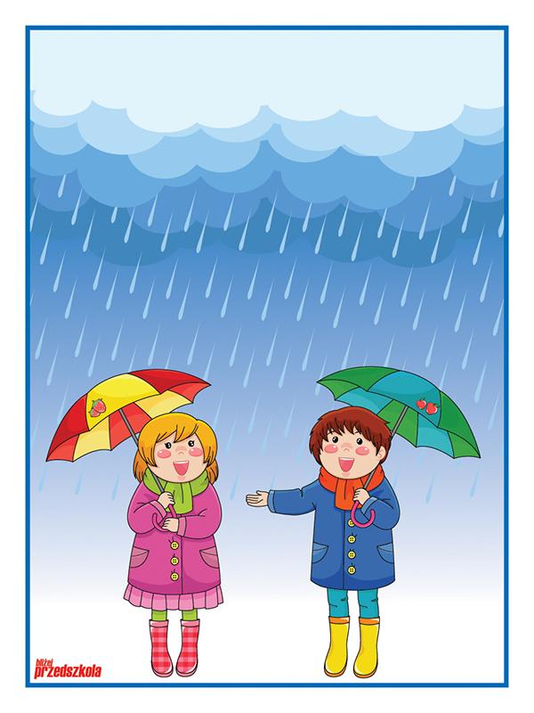 Plakat - Deszczowa pogoda - Scenariusze zajęć i artykuły - Miesięcznik -  BLIŻEJ PRZEDSZKOLA