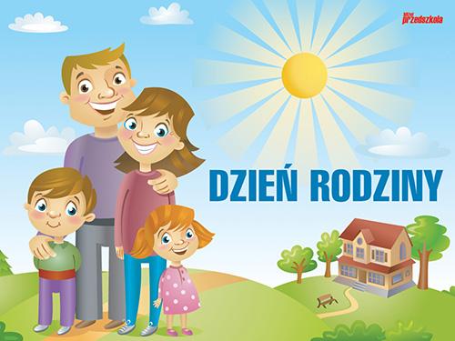 Plakat - Dzień Rodziny - Scenariusze zajęć i artykuły - Miesięcznik -  BLIŻEJ PRZEDSZKOLA