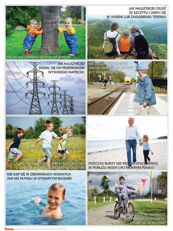 Plakat - Czego nie robić podczas burzy (cz. 1) - Scenariusze zajęć i  artykuły - Miesięcznik - BLIŻEJ PRZEDSZKOLA