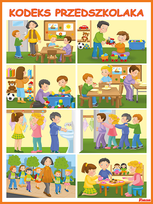 plakat kodeks przedszkolaka scenariusze zaję� i